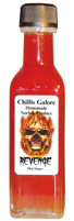 Chillis Galore Revenge Hot Sauce available from G F White Traditional Butchers, Aylsham, North Norfolk Broads, England, UK