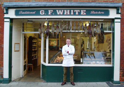 G. F. White are Traditional Family Butchers based in Aylsham, Norfolk, England.  We specialise in Meat, Game and Poultry. Meat has been our business for three family generations and we prepare many of our products to traditional family recipes.