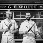 Crawford and Ben at G F White Butchers